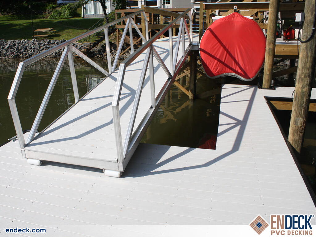 Aluminum Docks and PVC Decking Equals Long Lasting Docks in Docks - Marinas - Boardwalks photo gallery from Endeck PVC Decking