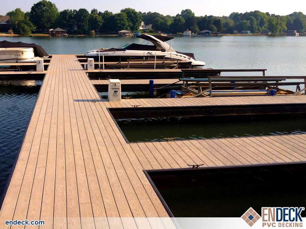 Marina using PVC Decking Materials Instead of Composite in Docks - Marinas - Boardwalks photo gallery from Endeck PVC Decking
