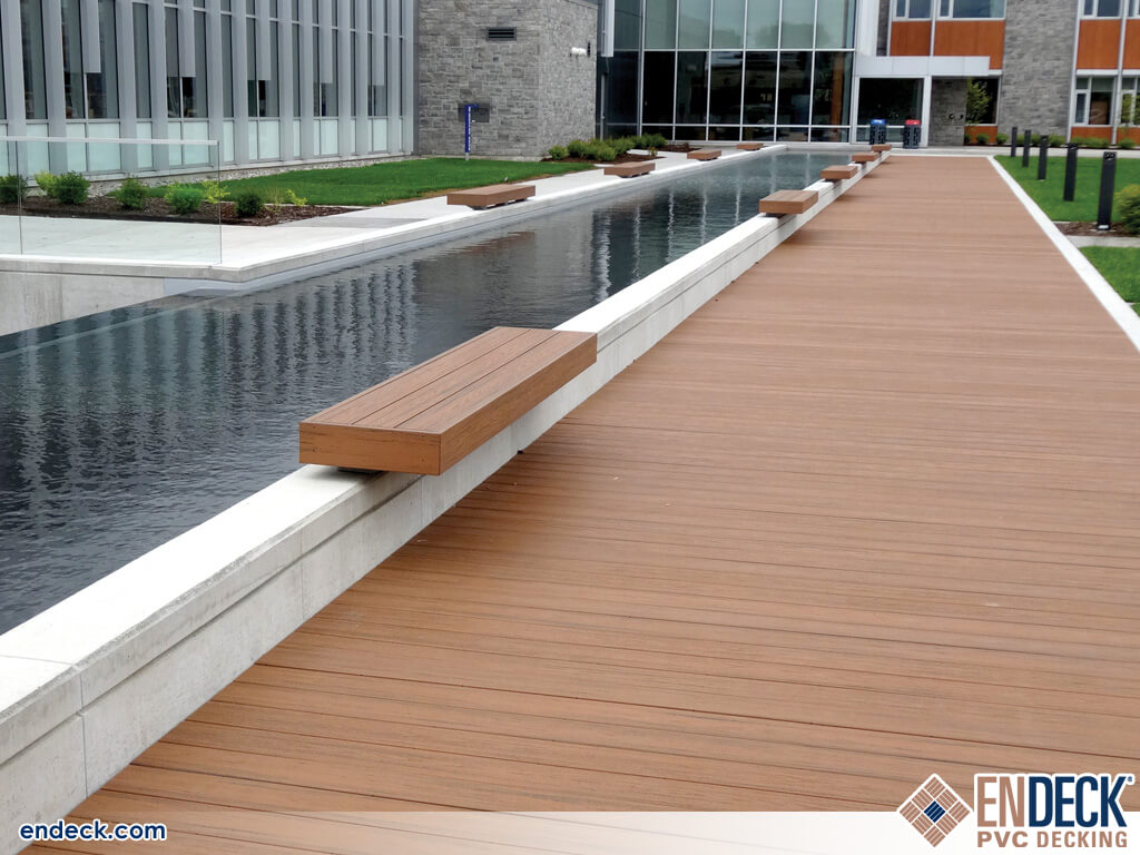 PVC Decking Is Durable Enough For Commercial Boardwalks in Docks - Marinas - Boardwalks photo gallery from Endeck PVC Decking
