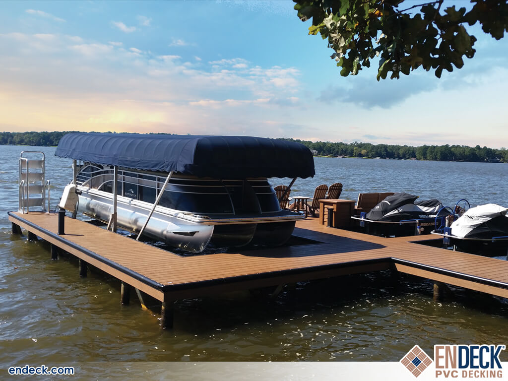 PVC Decking is Great For Docks in Docks - Marinas - Boardwalks photo gallery from Endeck PVC Decking