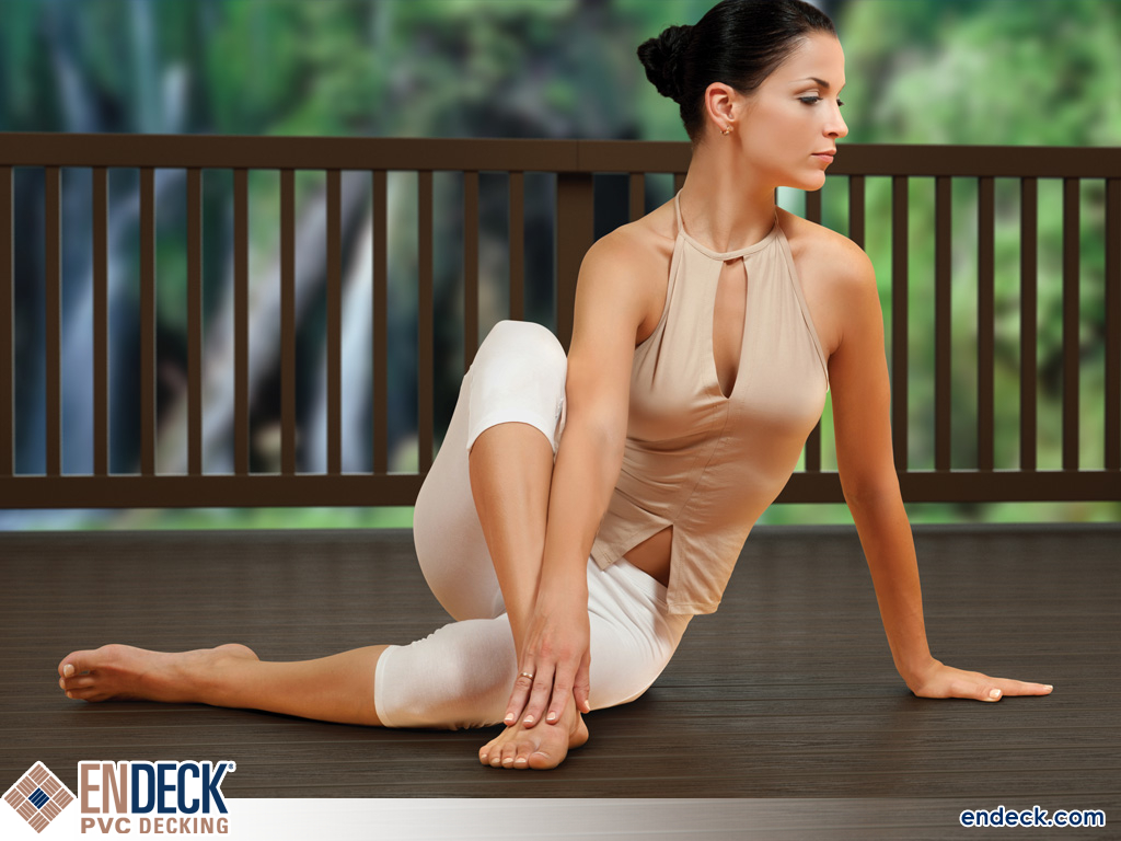 PVC Decking Makes For Great Yoga in PVC Decking photo gallery from Endeck PVC Decking