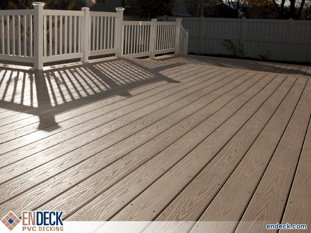 Photo of Large Deck Made From PVC in PVC Decking photo gallery from Endeck PVC Decking