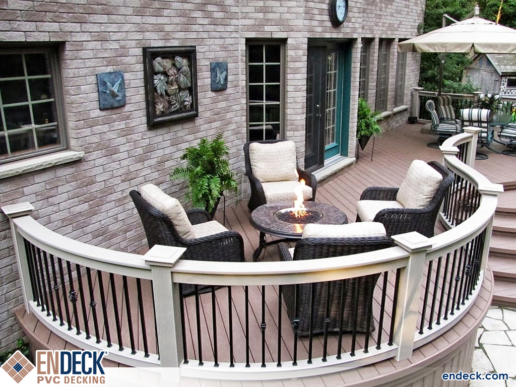 Round Deck using PVC Decking in PVC Decking photo gallery from Endeck PVC Decking