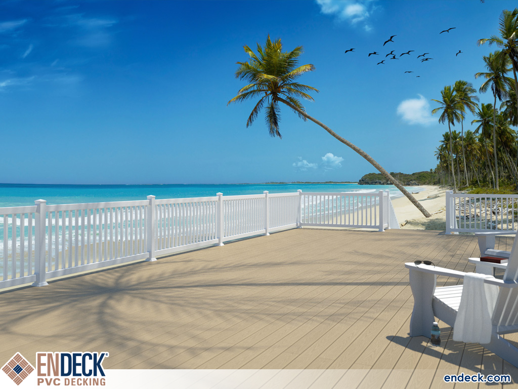 PVC Decking is Water Friendly in PVC Decking photo gallery from Endeck PVC Decking